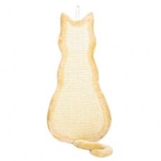 Škrábadlo závěsné tvar kočka 35x69cm - béžové