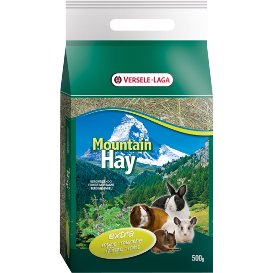 Versele Laga Mountain Hay Seno  s lístkami mäty 500 g