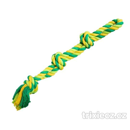 HipHop Dvojité lano bavlnené 3 knoty 60 cm / 450 g limetková, zelená