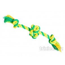 HipHop Lano s loptou s  2 ramenami, bavlnený 22 cm / 80 g limetková, zelená