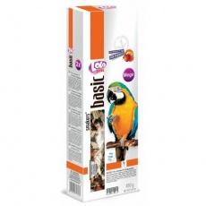 LOLO SMAKERS MEGA 2 klasy ovocné pro velké papoušky 450 g