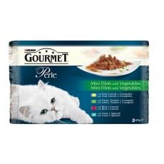 GOURMET PERLE Cat Duo Grilované mäso so zeleninou  4 x 85g