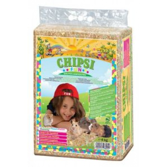 CHIPSI FUN lisované hobliny s fareb. pap.vločkami 60 L/4 kg