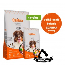 Calibra Dog Premium Line Energy 12 kg NEW + 3 kg