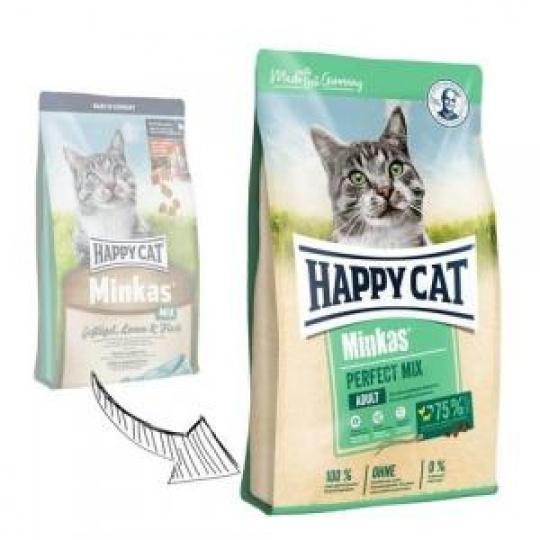 Happy Cat Minkas Perfect Mix Geflügel, Fisch & Lamm 10 kg