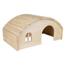 Dřevěné iglú pro králíky 42 x 20 x 25 cm