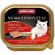V.Feinsten CORE hovězí, kuřecí prsa + bylinky pro kočky 100g