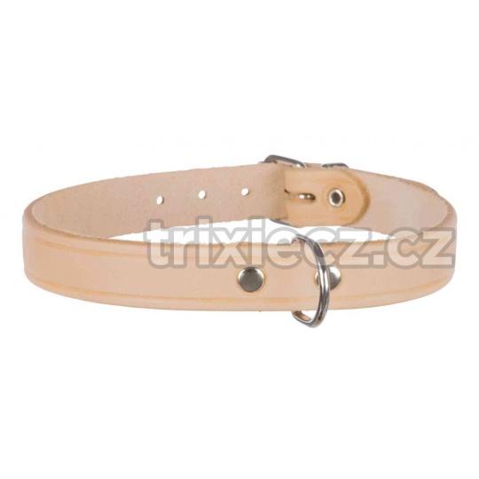 TRIXIE Obojek koženný BASIC S-M 33-39cm/16 mm Farba: Ružová