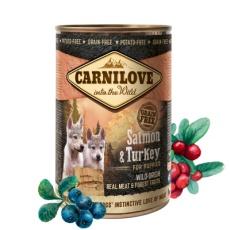 Carnilove Wild konz Meat Salmon & Turkey Puppies 400g