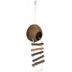 TRIXIE Kokosový dom pre škrečky s rebríkom 13 x 56 cm