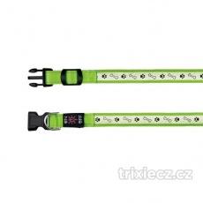 Svietiaci obojok USB, M-L 40-50 cm/25 mm zelený