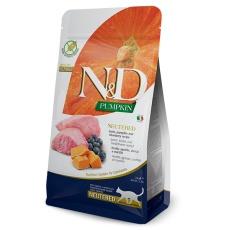 N&D Pumpkin CAT  Neutered Lamb & Blueberry 5kg
