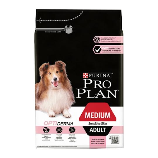 Purina Pro Plan Dog Medium Adult Sensitive Skin Optiderma 3 kg