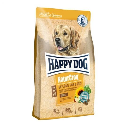 Happy Dog NaturCroq GEFLÜGEL Pur & Reis / Hydina & Ryža 15kg + DOPRAVA ZDARMA