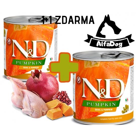 N&D Dog Pumpkin Adult Quail & Pumpkin 285g 1 + 1 ZDARMA