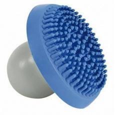 Šamponovací gum.kartáč pro jemnou masáž modro/šedý DOPRODEJ