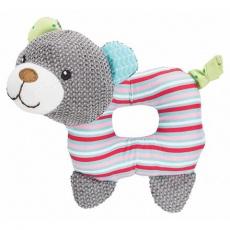 JUNIOR Bear, látkový medvěd pro štěně, se zvukem, 16cm