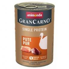 GRANCARNO Single Protein 400 g čisté krůtí, konzerva pro psy