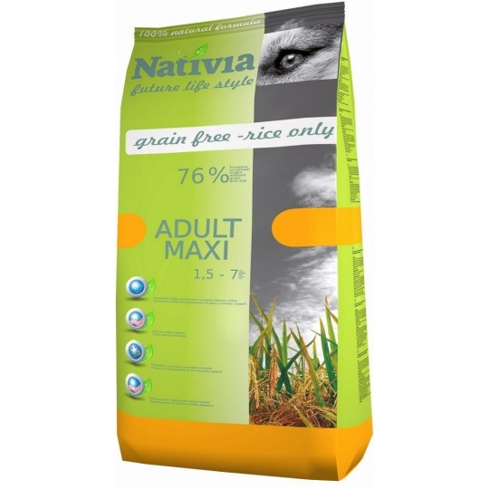 NATIVIA Adut Maxi Chick & Rice 15 kg