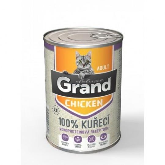 Grand Deluxe 100% Kuracie Adult 6 x 400 g