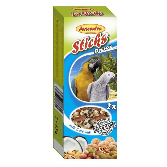 Avicentra Tyčinky deluxe s orechmi a kokosom pre veľkých papagájov ( 2 ks) 130 g