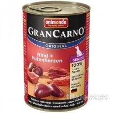Animonda Gran Carno Senior Hovädzie & morčacie srdcia 400 g