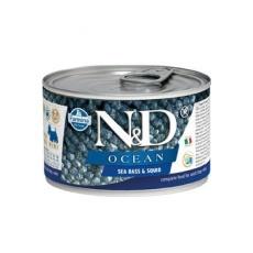 N&D DOG Ocean Adult Seabass & Squid Mini 140g