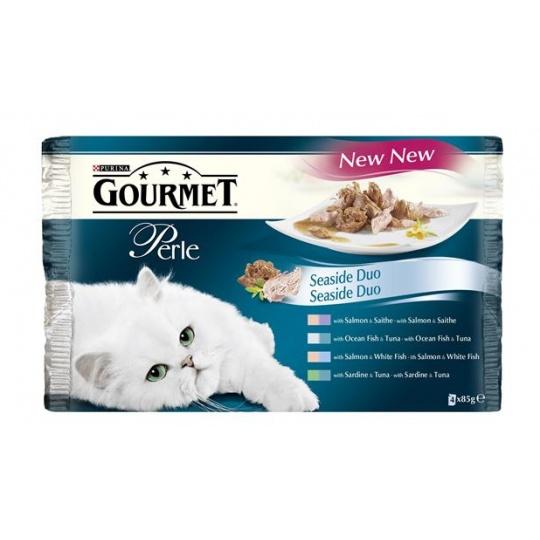 GOURMET PERLE Cat Duo Losos & Treska kapsičky 4 x 85g