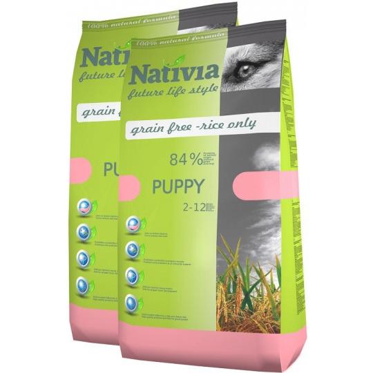 NATIVIA Puppy Chicken & Rice 15kg