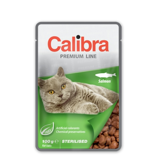 Calibra KAPSIČKA Premium cat Sterilised Losos v omáčke 24 x 100 g