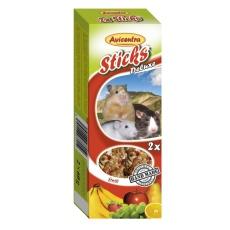 Avicentra Tyčinky deluxe s ovocím pre škrečky, potkany a myši ( 2 ks) 120 g