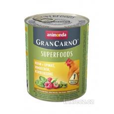 Animonda GRANCARNO Superfoods kura, špenát, maliny, dyňové semienka 6x800 g