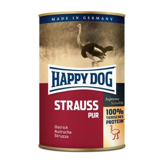 Happy Dog Konzerva Strauss Pur Pštrosie mäso 400 g