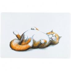 Prostírání s ležící tlustou kočkou 44 x 28 cm - DOPRODEJ