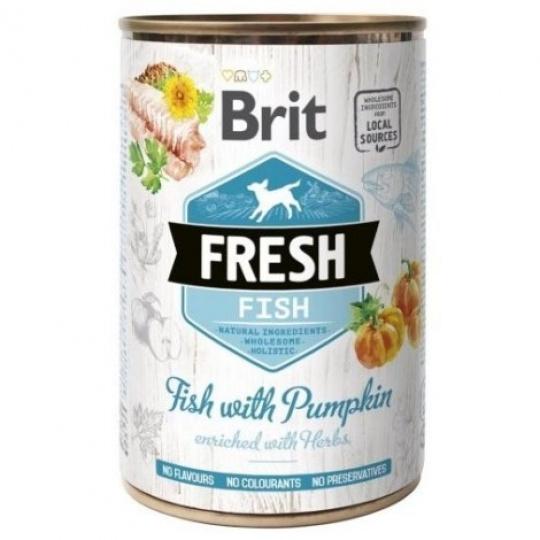 Brit Fresh Dog konzerva Fish with Pumpkin 400 g