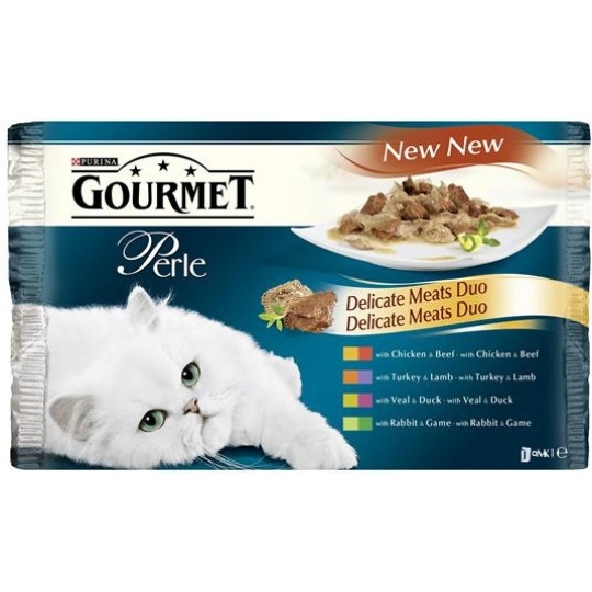 GOURMET PERLE Cat Duo Grilované mäso so zeleninou  24 x 85g