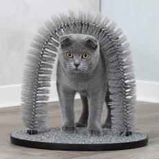 Masážní oblouk pro kočky 36 x 33 cm šedý