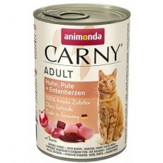 ANIMONDA konzerva CARNY Adult - kuře, krůta+kachní srdce 400g
