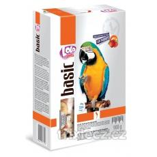LOLO BASIC kompl.ovocné krmivo pro velké papoušky 900g krabička