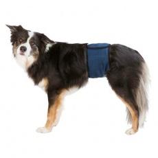 Břišní pás na podložky pro psa samce S-M 37-45cm tmavě modrý