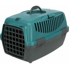 Transportní box CAPRI I, XS: 32x31x48cm max.do 6kg - tmavošedá/petrolejová
