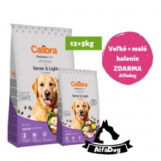 Calibra Dog Premium Line Senior&Light 12 kg NEW + 3kg