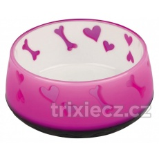 TRIXIE Lovely Dog miska ťažká, plastová 0,3 l , 12 cm