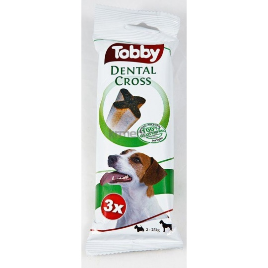 TOBBY DENTAL CROSS S-M 70g 3ks