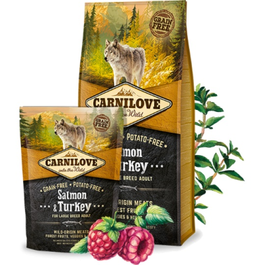 Carnilove Adult Dog Large Breed Salmon & Turkey 12kg