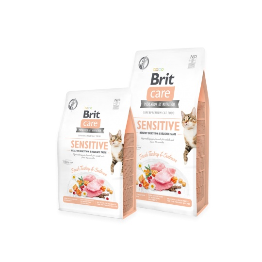 Brit Care Cat Grain-Free SENSITIVE HEALTHY DIGESTION AND DELICATE TASTE 7 kg