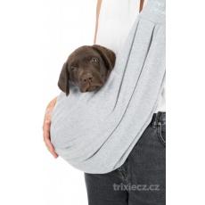 JUNIOR nosička pro mláďata 22 x 20 x 60 cm světle šedá/mátová