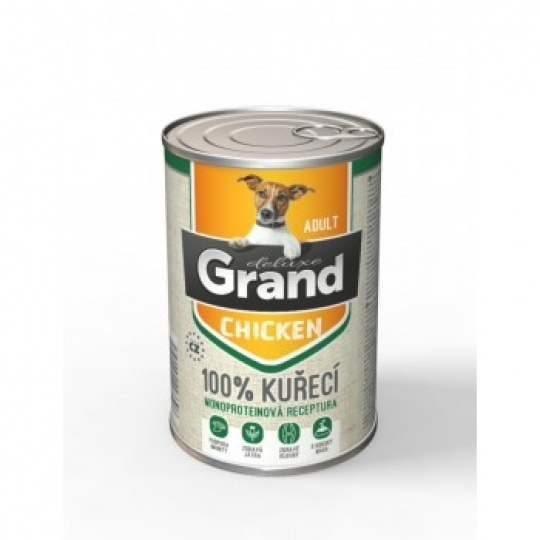 Grand Deluxe 100% Kuracie Adult 6 x 820 g
