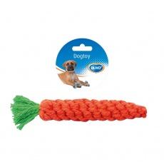 Hračka DUVO+ bavlnená mrkva oranžová 20 cm