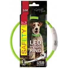 DOG FANTASY svetelný USB zelený 45cm
